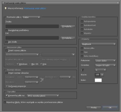 Photoshop Elements 9 - przetwarzaj wiele plików