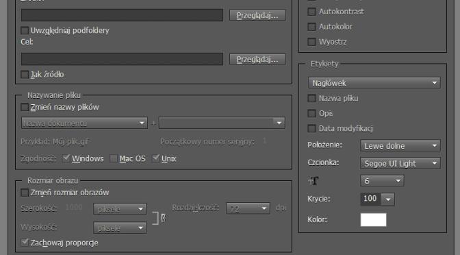 Photoshop Elements 9 - przetwarzaj wiele plikow