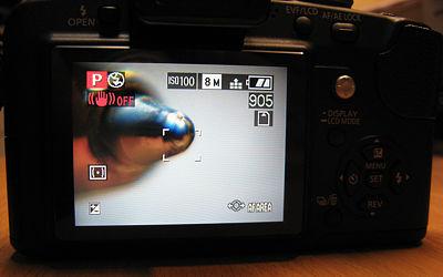 zestaw do zdjęć makro - podgląd na ekranie