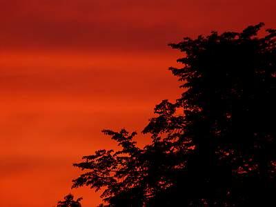 Zachód słońca widziany zokna #2