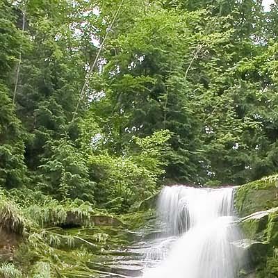 Wodospad Kamieńczyka zpliku RAW - powiększenie