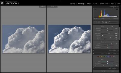 Zdjęcie chmur przedipowLightroom 4
