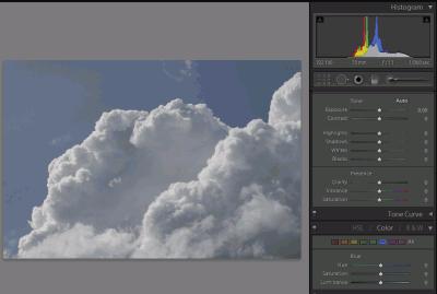 Zdjęcie chmur wLightroom 4