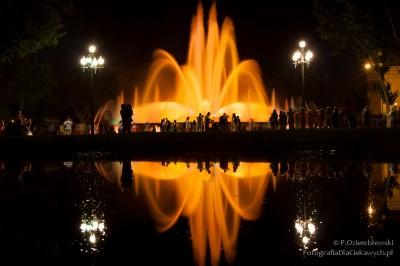 Pokaz fontann wBarcelonie