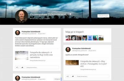 Google Plus - Przemyslaw Oziemblewski