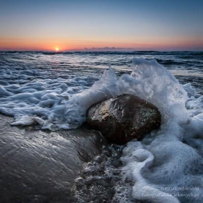 Zachód słońca w Jastrzębiej Górze