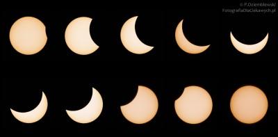 Zaćmienie Słońca - fazy - 20-03-2015 r.