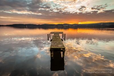 Pomost nad jeziorem Chodzieskim