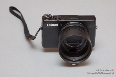 uchwyt na filtr do aparatu kompaktowego