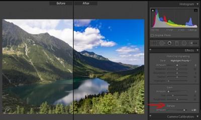 Adobe Lightroom - Funkcja Dehaze