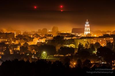 Nocne zdjęcia Chodzieży
