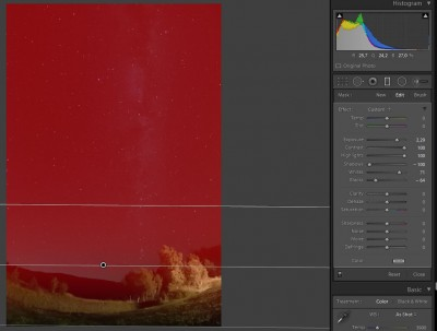 Droga Mleczna - obróbka zdjęcia
