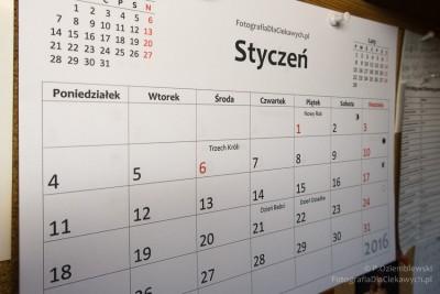 Kalendarz 2016 - wydrukowany
