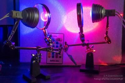 LED RGB w uchwycie do lutowania