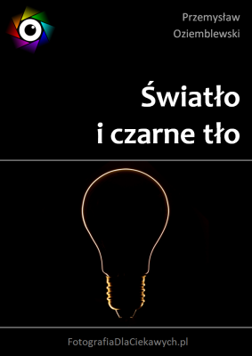 Światło i czarne tło