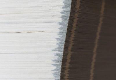 Karty książki w zbliżeniu