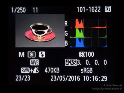 Zdjęcie prześwietlone - widoczny alarm przeietleń