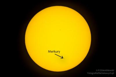Merkury na tle Słońca