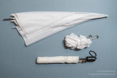 Biała parasolka fotograficzna