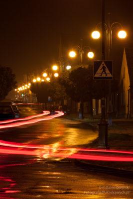 Chodzież nocą - ul. Wojska Polskiego
