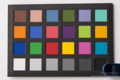 Test zmiany barw filtra spawalniczego - zdjęcie bezfiltra