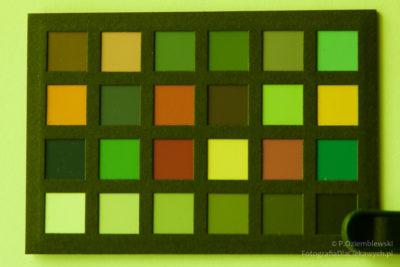 Test zmiany barw filtra spawalniczego - zdjęcie z filtrem