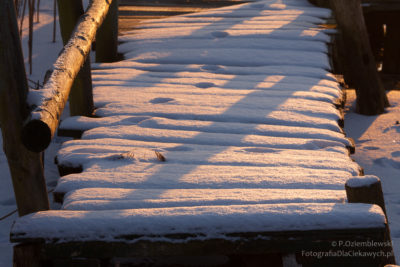 Zdjęcia zimy - barwy śniegu