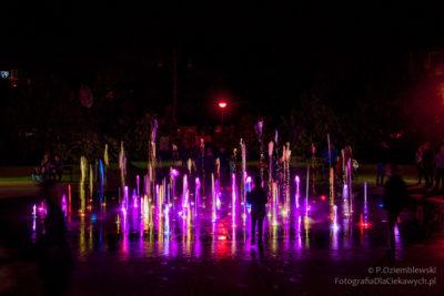 Pokaz fontann – stała atrakcja Torunia