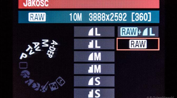 Dlaczego aparat zapisuje JPGi mimo ustawionego zapisu w formacie RAW