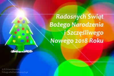 Radosnych Świąt iSzczęśliwego Nowego Roku 2018