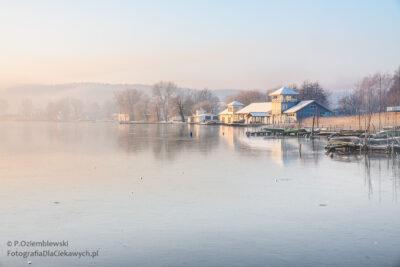 Zimowe zdjęcia - Ogólny widok najezioro Chodzieskie