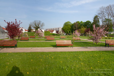 Park przy molo wChodzieży