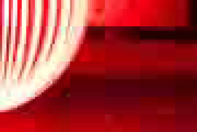 Powiększony fragment zdjęcia JPG omaksymalnej kompresji