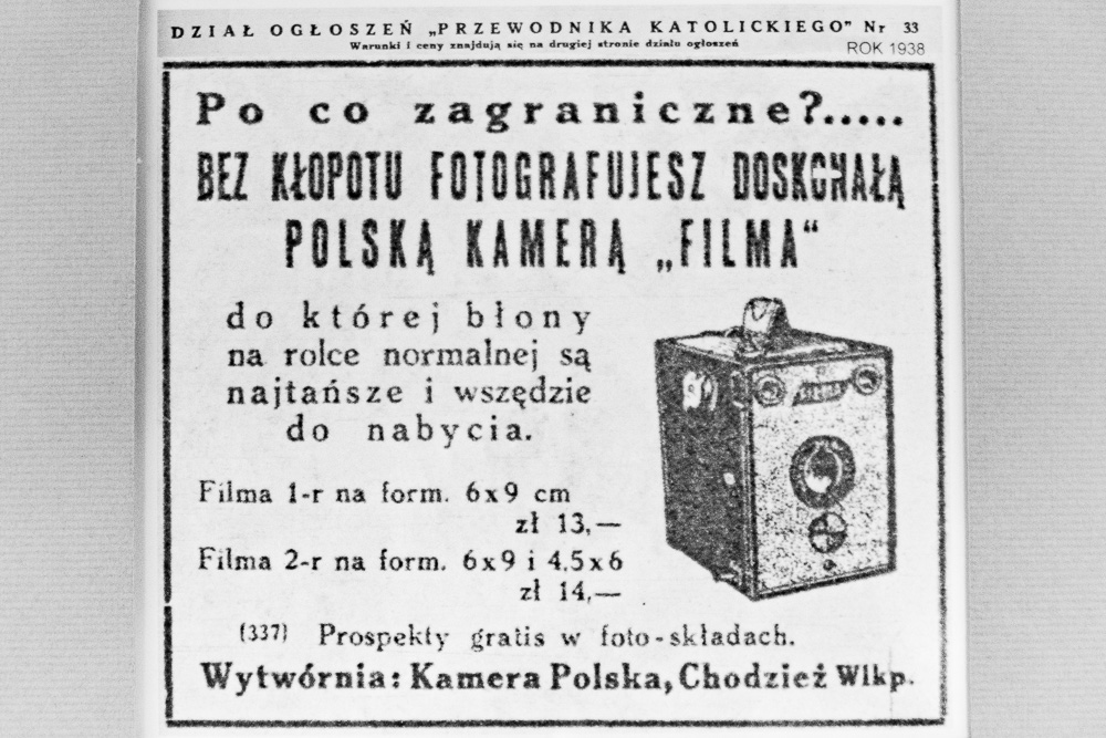 Polski aparat fotograficzny Filma