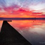 Zachód słońca nad jeziorem Chodzieskim