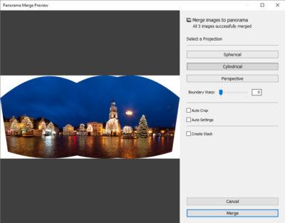 lightroom - automatyczne łączenie zdjęć wpanoramę