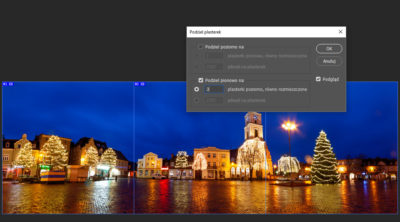 Photoshop - podział zdjęcia natrzy części / natrzy plasterki