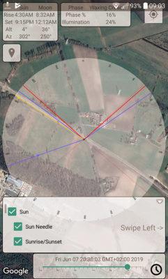 Aplikacja - Sun Position Map