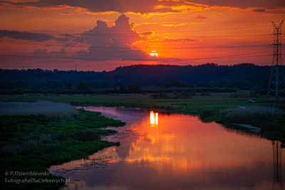 Zachód słońca nadNotecią
