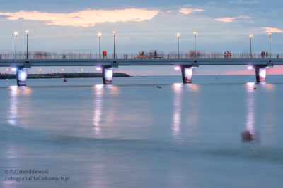 Zdjęcia nocne - zbliżenie namolo wKołobrzegu