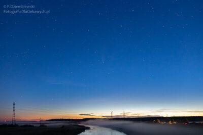 kometa C/2020 F3 NEOWISE nadDoliną Noteci