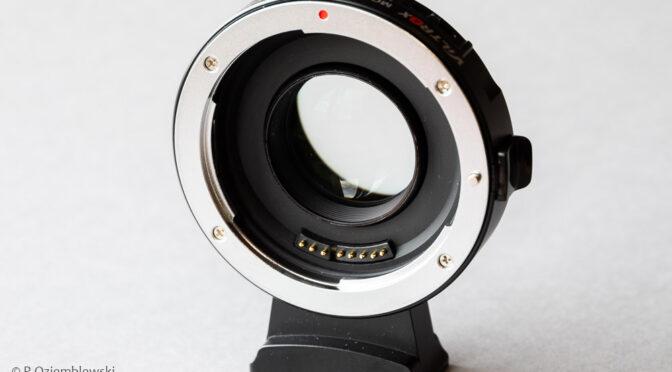 Adapter Viltrox EF-M2 II – naprawa ostrzenia na nieskończoność