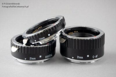 Pierścienie pośrednie domakrofotografii