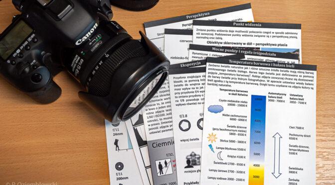 Zestaw podstawowych ściąg fotograficznych jest już dostępny