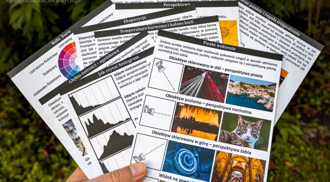 Tematy ściąg fotograficznych – zobacz i odbierz darmowe 5 arkuszy ze ściągami