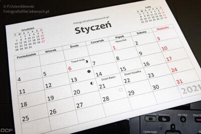 Kalendarz - wydruk