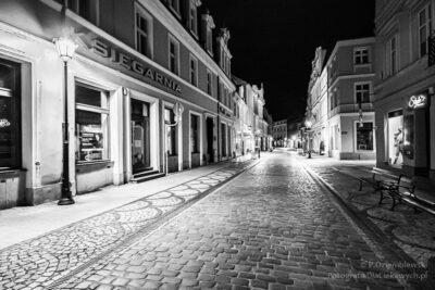 Bydgoszcz - nocne zdjęcia czarno-białe